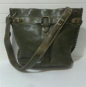 8cecb27fbb6 100% Genuine Leather Frye hand bag green hobo